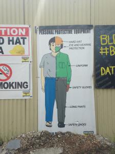 工事現場の注意書き