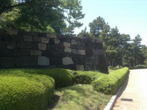 二の丸庭園松と石垣