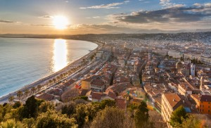 View of Nice city - Cote d'Azur - France